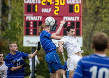 Norwich University Mens Soccer v St. Josephs Stock Photo