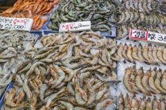 Noryangjin rybołówstw Hurtowy rynek 24 godzina rynku ove Obrazy Stock