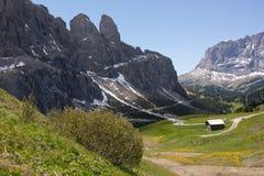 Nos alpes da dolomite Imagem de Stock