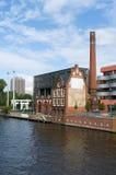 Nos bancos da série. Berlim. fotos de stock royalty free