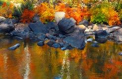Nos bancos do rio Fotografia de Stock
