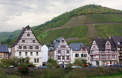 Nos bancos do rio de Mosel, Alemanha Fotos de Stock