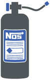 NOS Bottle for racing. Nitrous oxide bottle graphic - for racing Royalty Free Stock Image