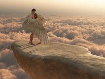 Nos braços de um anjo ilustração stock