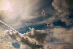Nos céus de Sibéria Imagens de Stock