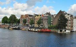 Nos canais de Amsterdão Fotografia de Stock