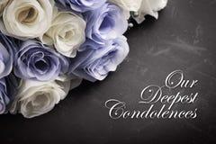 Nos condoléances plus profondes photos libres de droits