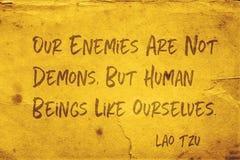 Nos ennemis Lao Tzu photo stock