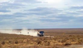 Nos estepes de Cazaquistão do sul Fotografia de Stock Royalty Free