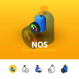 NOS icon in different style Royalty Free Stock Photography