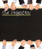 Nos projets Image libre de droits