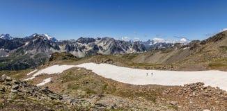 Nos trajetos da montanha Fotos de Stock Royalty Free