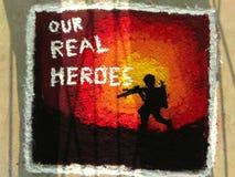 nos vrais héros photographie stock libre de droits