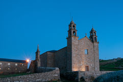Nosa Senora da Barca Sanctuary at night Stock Photo