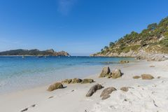 Nosa Senora plaży Cies wyspy Obrazy Royalty Free