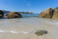 Nosa Senora plaży Cies wyspy Zdjęcia Royalty Free
