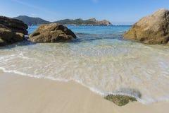 Nosa Senora plaży Cies wyspy Obrazy Stock
