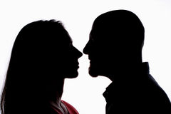 Nose 2 Nose. Nose to Nose Royalty Free Stock Images