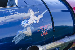 Nose art on warbird Harvard Royalty Free Stock Images