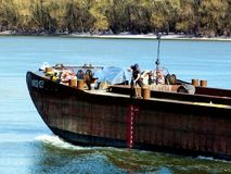 Spring Cleaning on the Barge stock photo