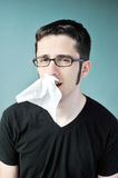 Nose bleed Royalty Free Stock Photos