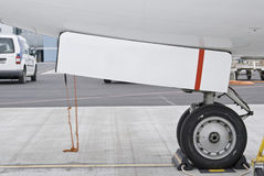 Nose gear. Nose gera of airplane standing at the gate Stock Photos