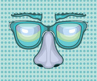 Nose and Glasses. Illustration clip-art eps vector Royalty Free Stock Image