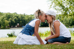 Nose hug royalty free stock images