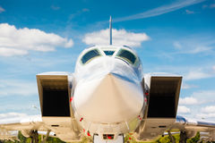 Nose jet military plane, Royalty Free Stock Photo