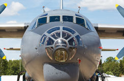 Nose jet military plane, Royalty Free Stock Photography