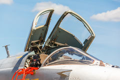 Nose jet military plane, Royalty Free Stock Images