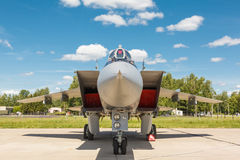 Nose jet military plane, Stock Images