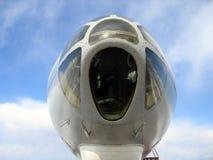 Nose of jet plane Stock Photos