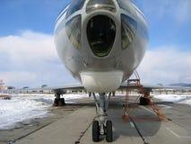 Nose of jet plane Stock Photo
