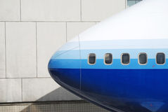 Nose of jumbo jet Stock Images