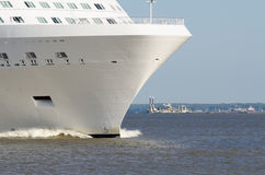 Nose of a large cruise ship. Stock Photo