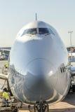 Nose of a Lufthansa aircraft Royalty Free Stock Photos