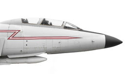 Nose Of Old Fighter Jet Isolated Stock Images