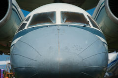 Nose of the old Soviet passenger plane Stock Image