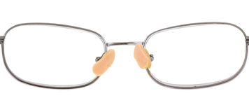 Nose pads on eyeglasses Royalty Free Stock Photos