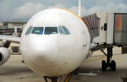 Nose of passenger plane Royalty Free Stock Images