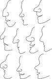 Nose profile outline Stock Photos