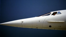 Nose section of Concorde Royalty Free Stock Photos
