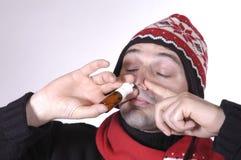 Nose spray Stock Photography