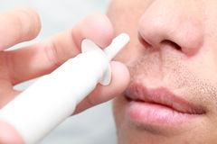 Nose spray Stock Photo