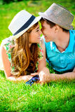 Nose to nose Royalty Free Stock Images