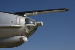 Nose of Tu-142 Bear. Nose of old soviet Long Range ASW (anti-submarine) Aircraft TU-142 Bear Stock Photography