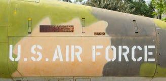 Nose of Vietnam war Airplane displayed in Vietnam Stock Images