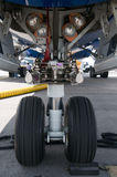 Nose wheel of airplane Stock Photography
