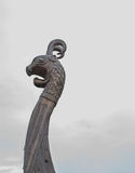 The nose of a wooden Viking ship - Drakkar Royalty Free Stock Photo